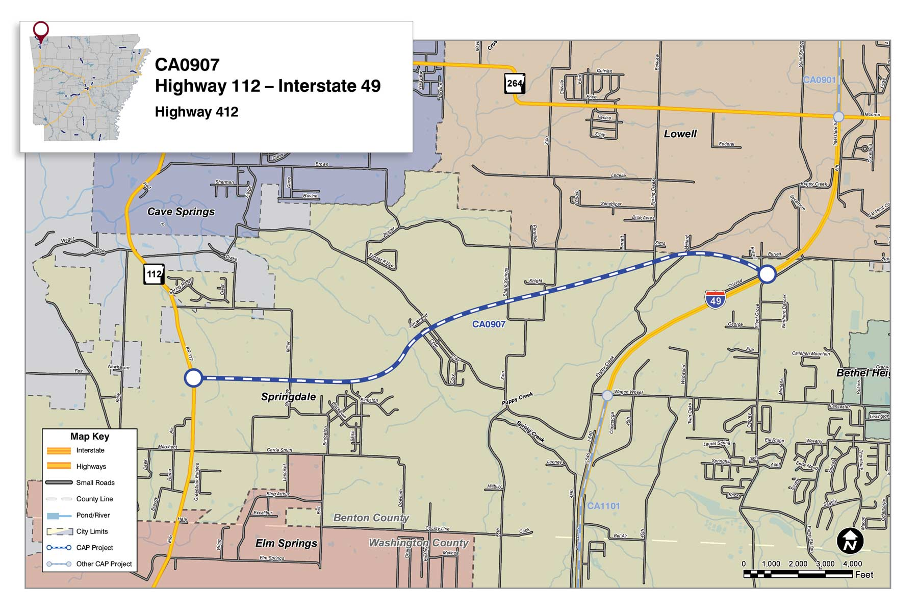 Highway 412: Benton County - Connecting Arkansas Program