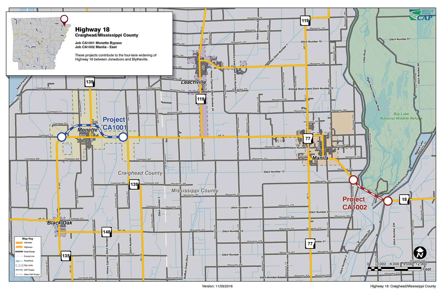 Highway CraigheadMississippi County Connecting Arkansas Program - Arkansas highway map