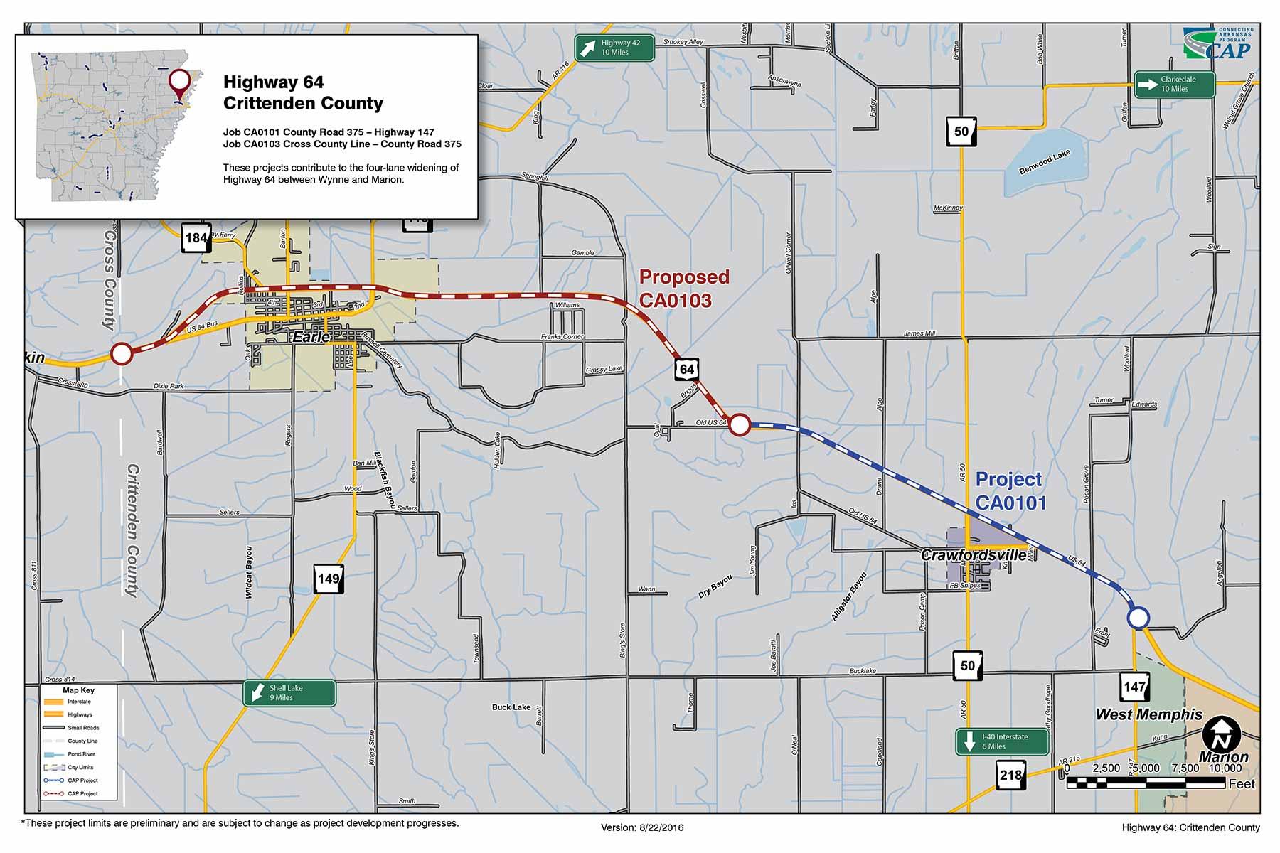 Highway 64: Crittenden County - Connecting Arkansas Program