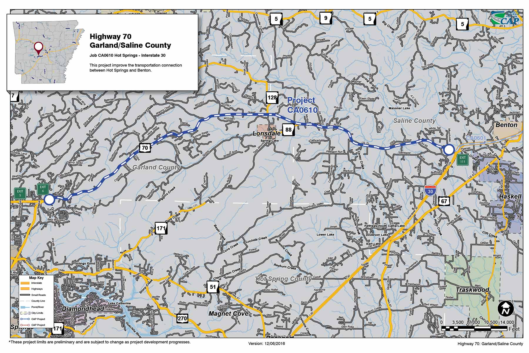 Highway GarlandSaline County Connecting Arkansas Program - Arkansas highway map