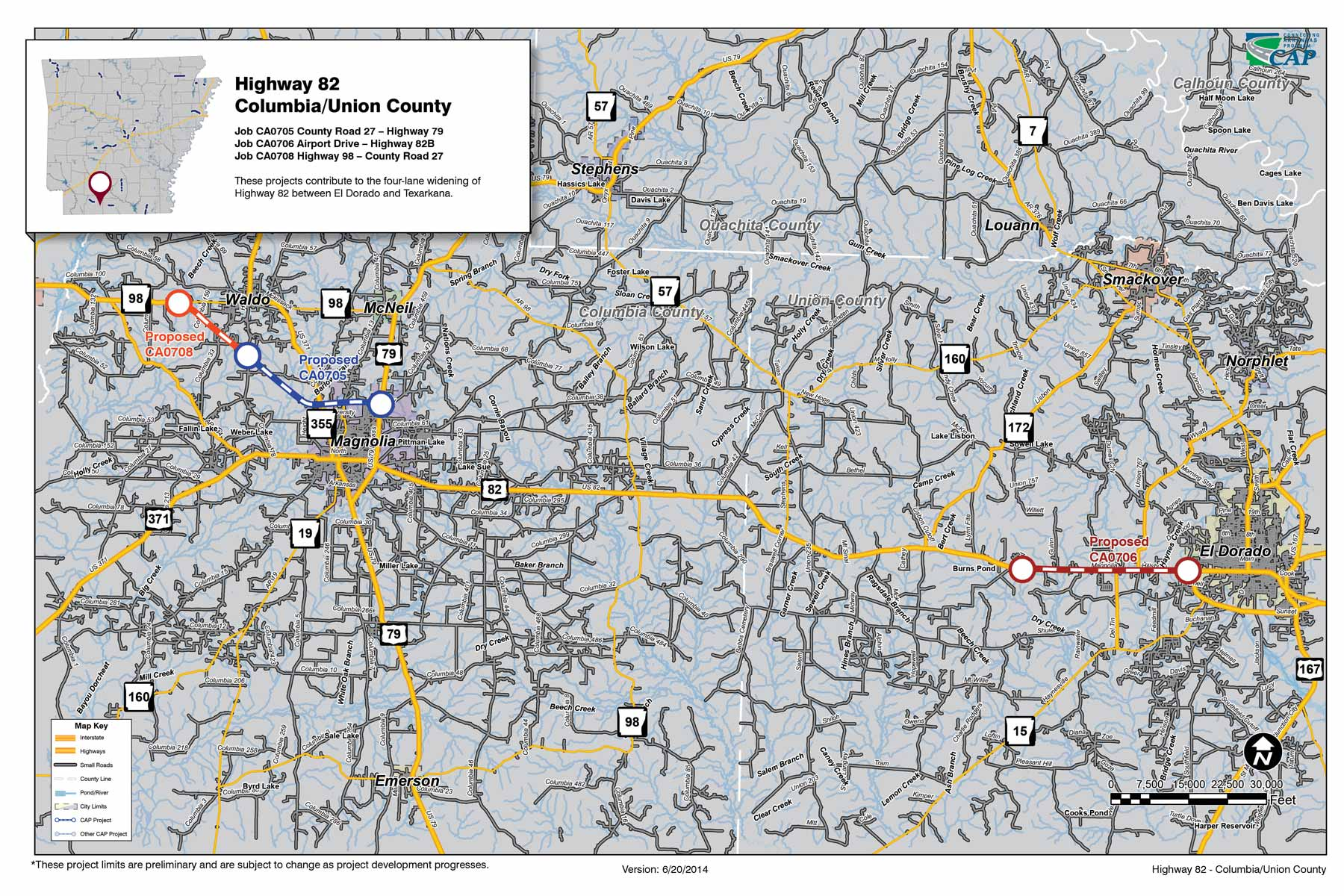 Highway ColumbiaUnion County Connecting Arkansas Program - Arkansas highway map