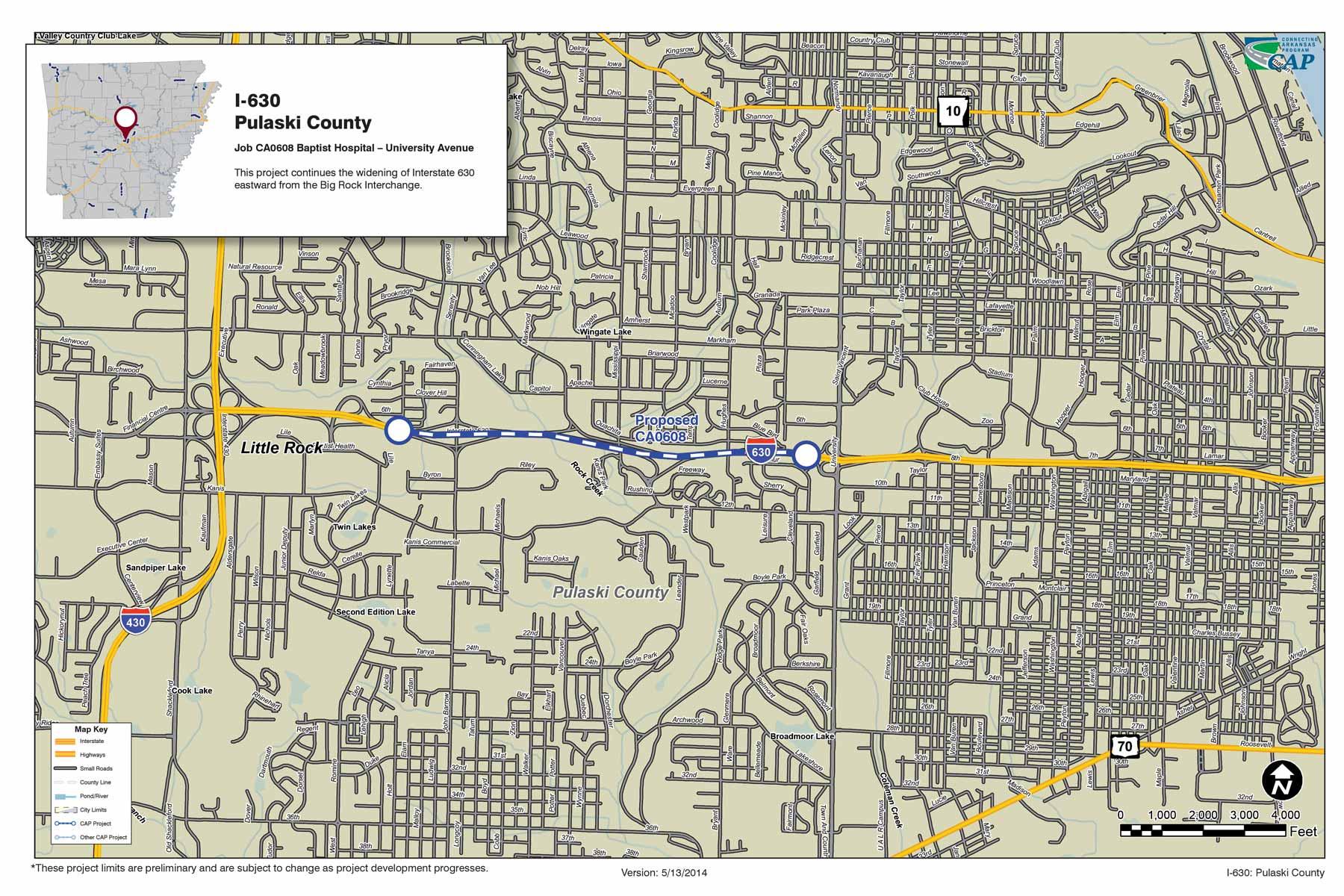 I 630 Pulaski County Connecting Arkansas Program
